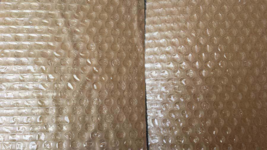paper laminated bubble wrap pabble