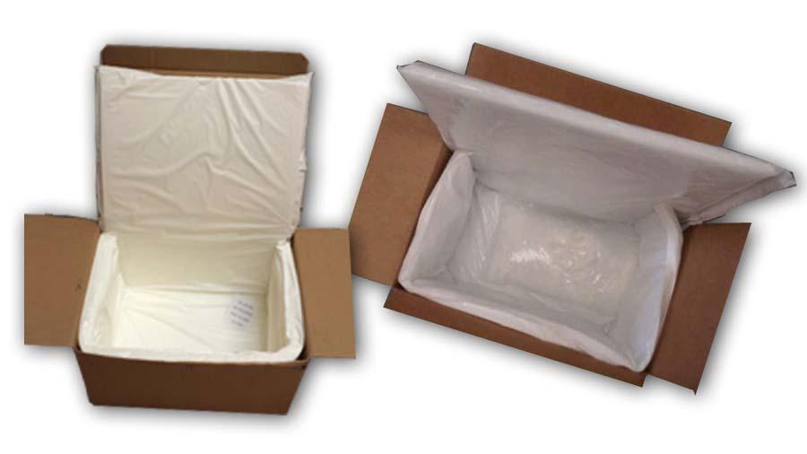 white fiber box liners